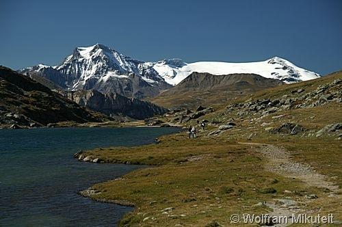 Lac de Savine - Via Alpina, blauer Weg, Etappe D35 zw. Rif. Vaccarone und Ref. du Petit Mont Cenis