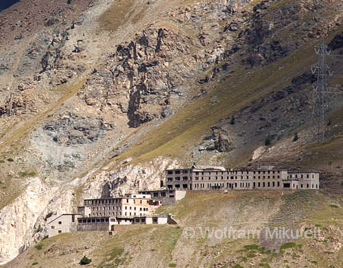 die Mine La Colonna im Valle di Cogne