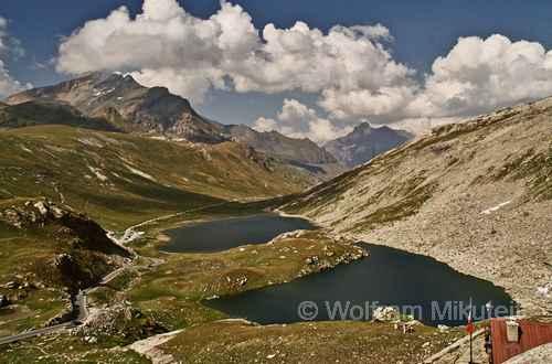 Nivolet-Hochebene, links der Mont Taou Blanc