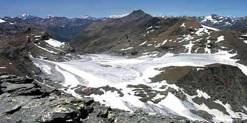 Gletscher am Rocciamelone