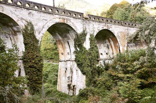 Ponte dell'Arnodera - nach der am 29.12.1943 erfolgreichen Sprengung wieder instandgesetzt
