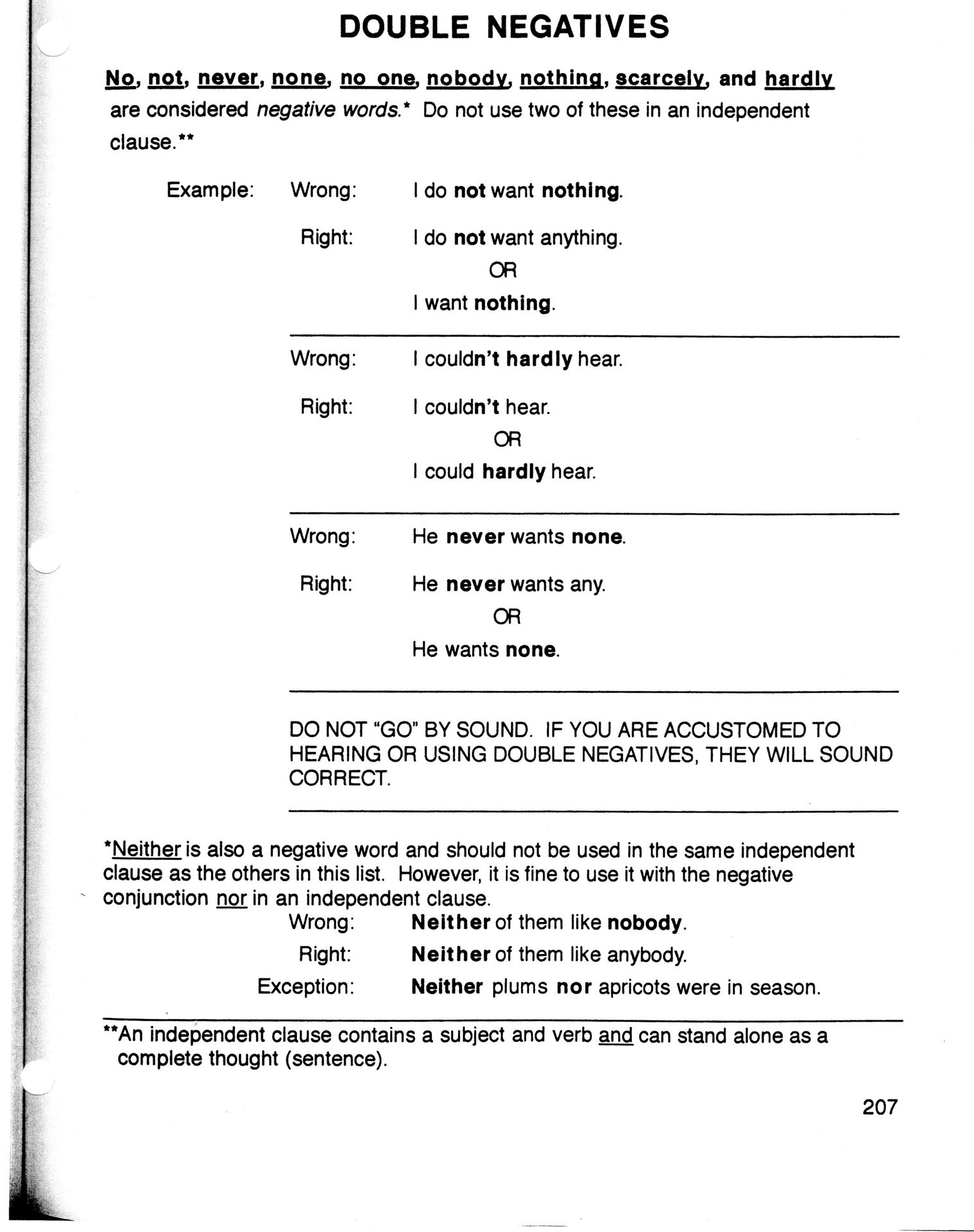 Worksheet Double Negative Worksheet Grass Fedjp Worksheet Study Site