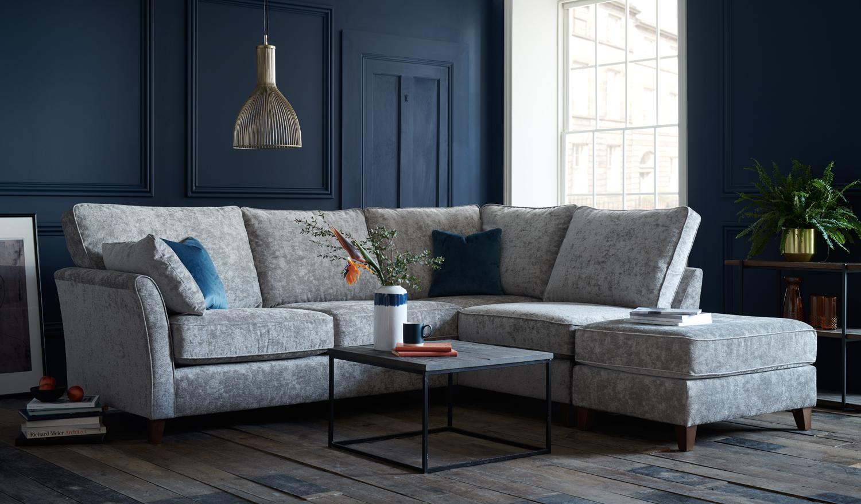 Small Grey Leather Sofa