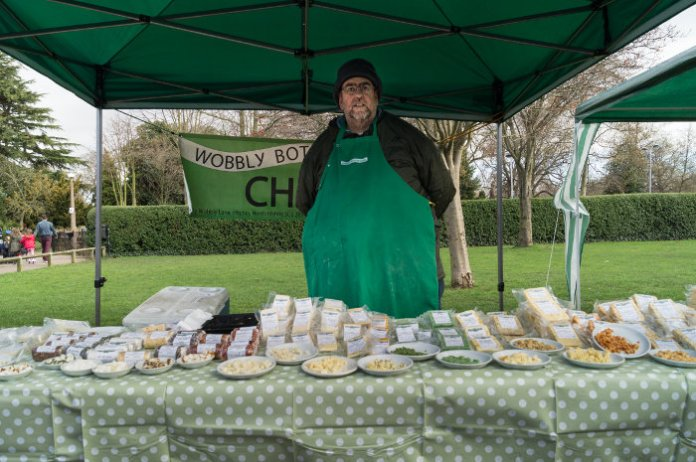 Cheese stall at West Bridgford Farmers Market