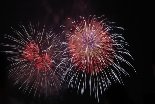 West Bridgford Chistmas lights switch on fireworks