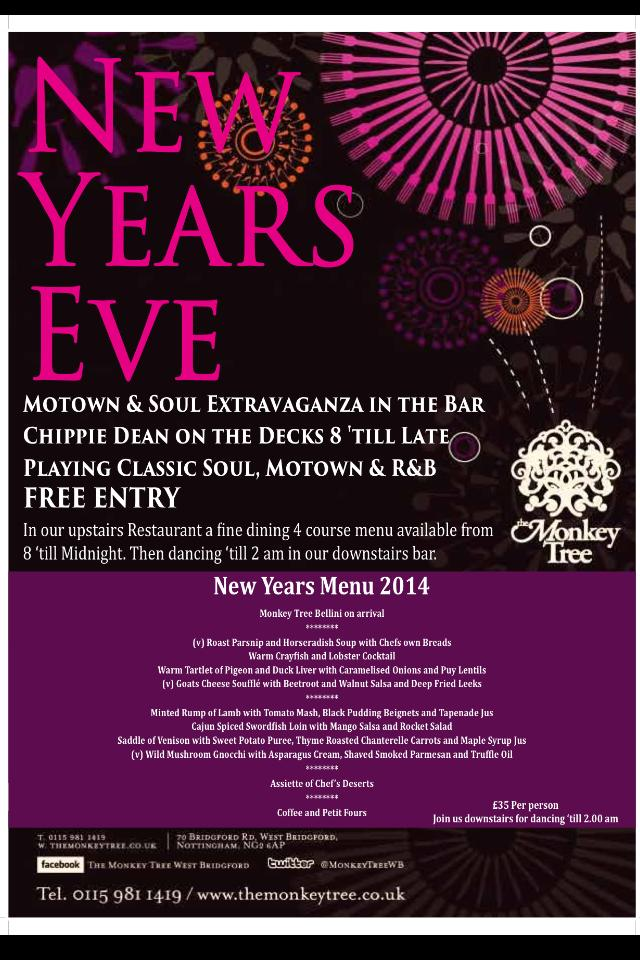 New Year's Eve 2014 at the Monkey Tree, West Bridgford