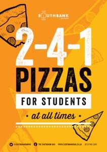 2-4-1 pizzas