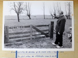 Visiting the Netherlands in 1981, the spot where the plane crashed.