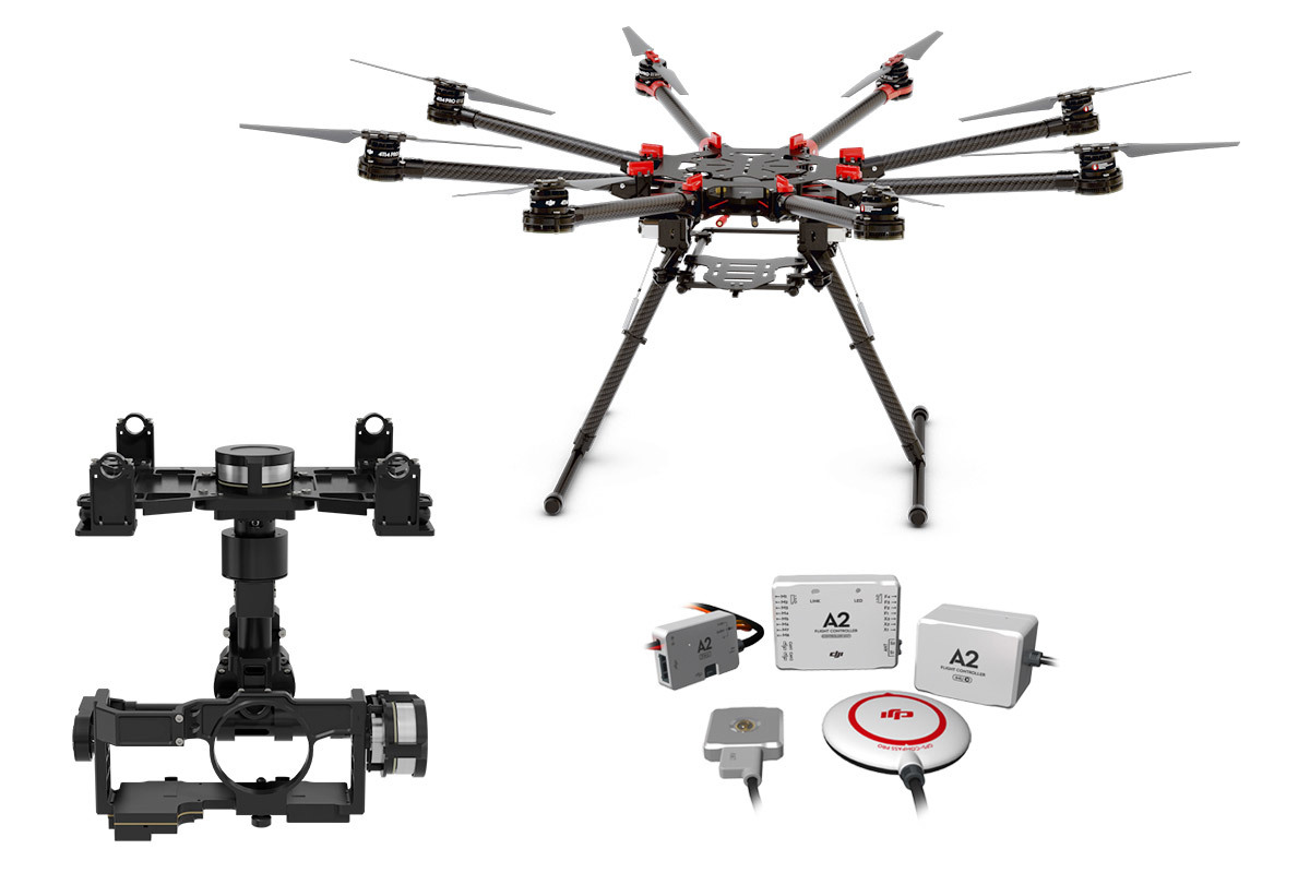 Dji S Octocopter With Spreading Wings A2 Z15 Gh4 Hd
