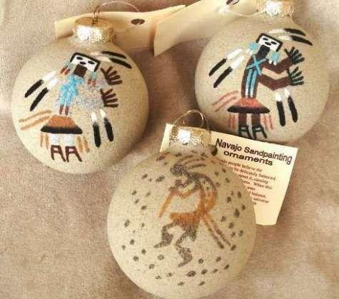 Navajo Sand Painted Southwest Christmas Ornament