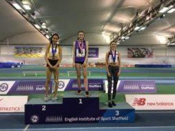 Abi Pawlett at Indoor Pentathlon
