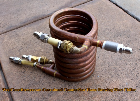 Home Brewing Convoluted Counterflow Wort Chiller - Chillzilla