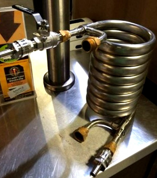 Stainless Steel Convoluted Counterflow Wort Chiller for Home Brewing