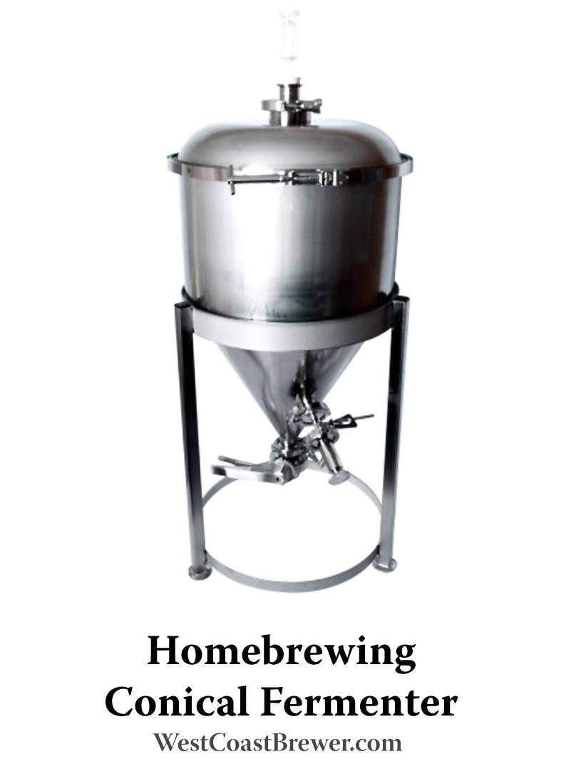 Stainless steel homebrewing fermenter