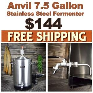 Anvil Promo Code: Anvil Stainless Steel Fermenter for $140