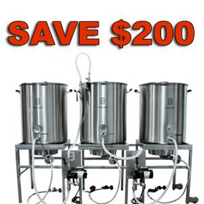The MoreBeer Brew Built Stainless Steel Home Beer Brewing System