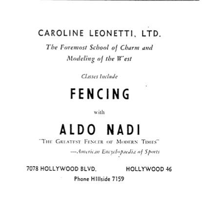The Fencer.AldoNadi.ad.1948