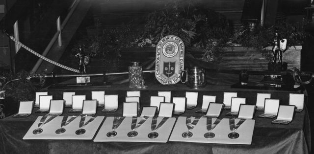 1970 Masters medal stand