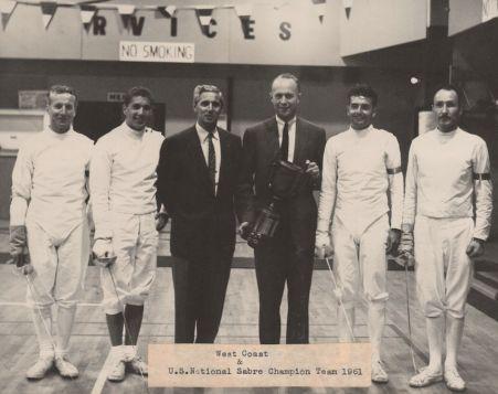 1961 Sabre Team.Baker.Orban.Alpar.Magay.Biagini