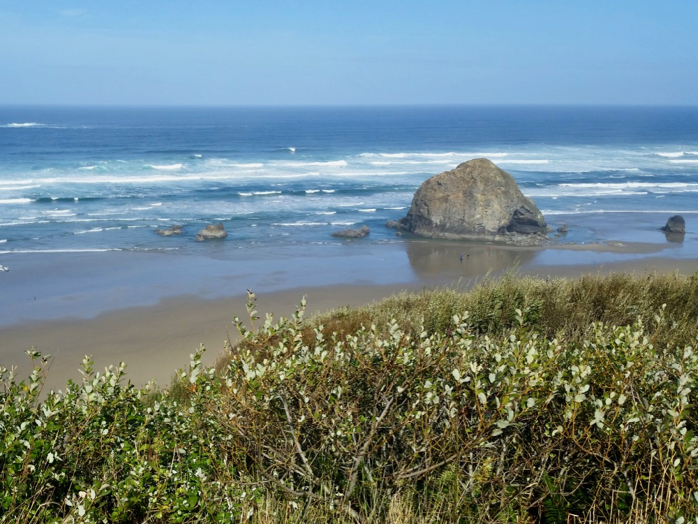 Large haystack rock on Cannon Beach