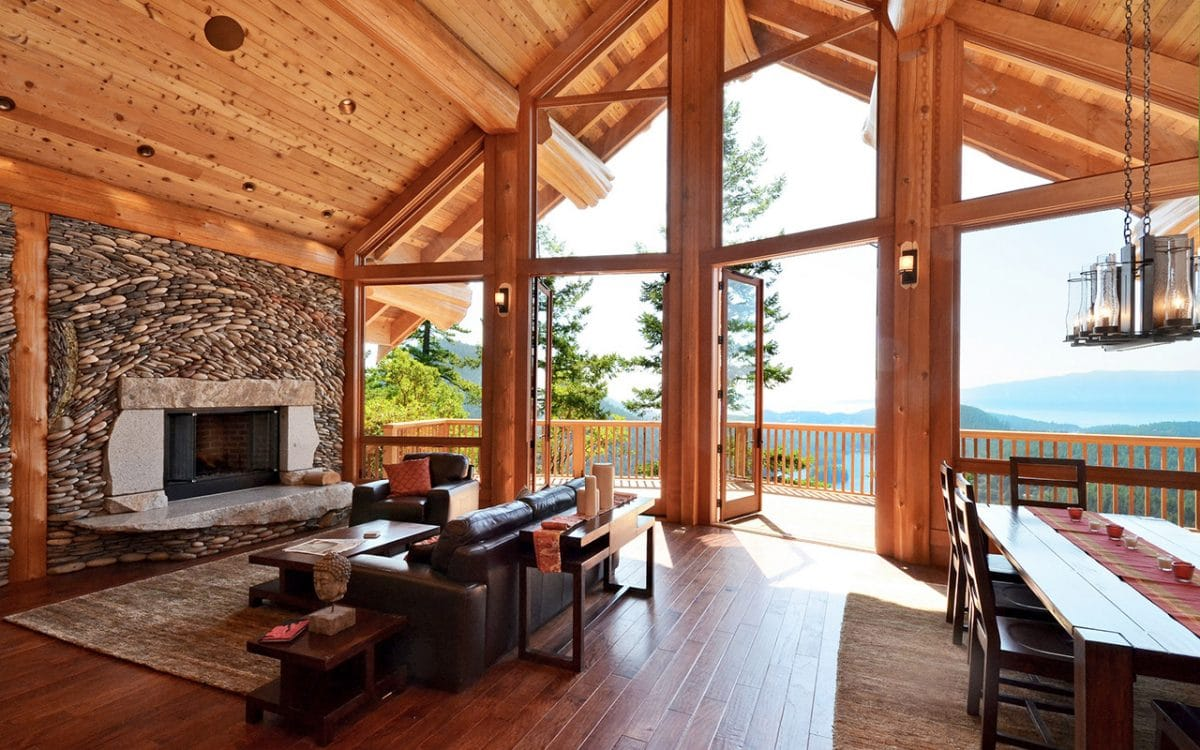 Mixal Heights Post And Beam West Coast Log Amp Timber