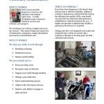 Pulmonary Rehabilitation Flyer for Peace Health Hospital, Florence