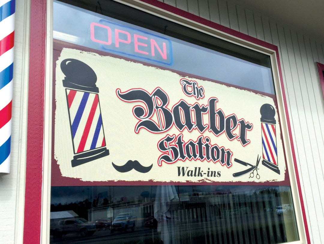 The Barber Station – Window Graphic
