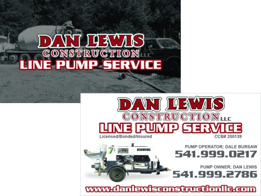 Dan Lewis Construction – Line Pump Business Card