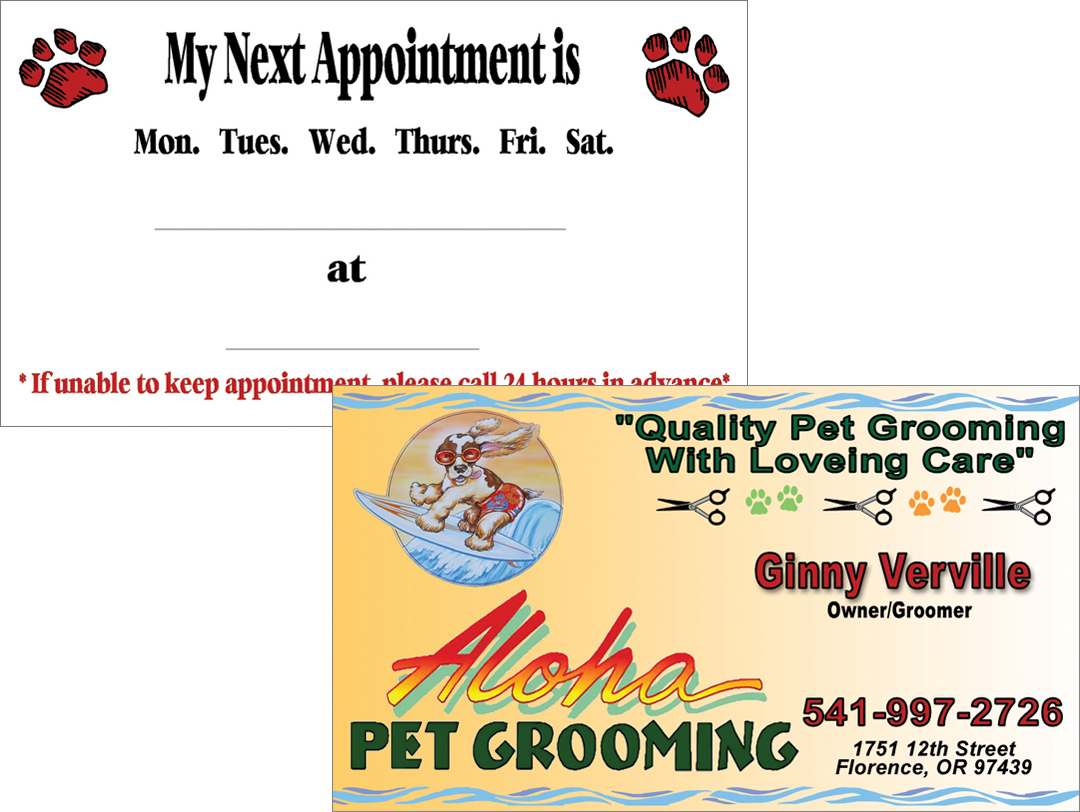 Aloha Pet Grooming – Business Card