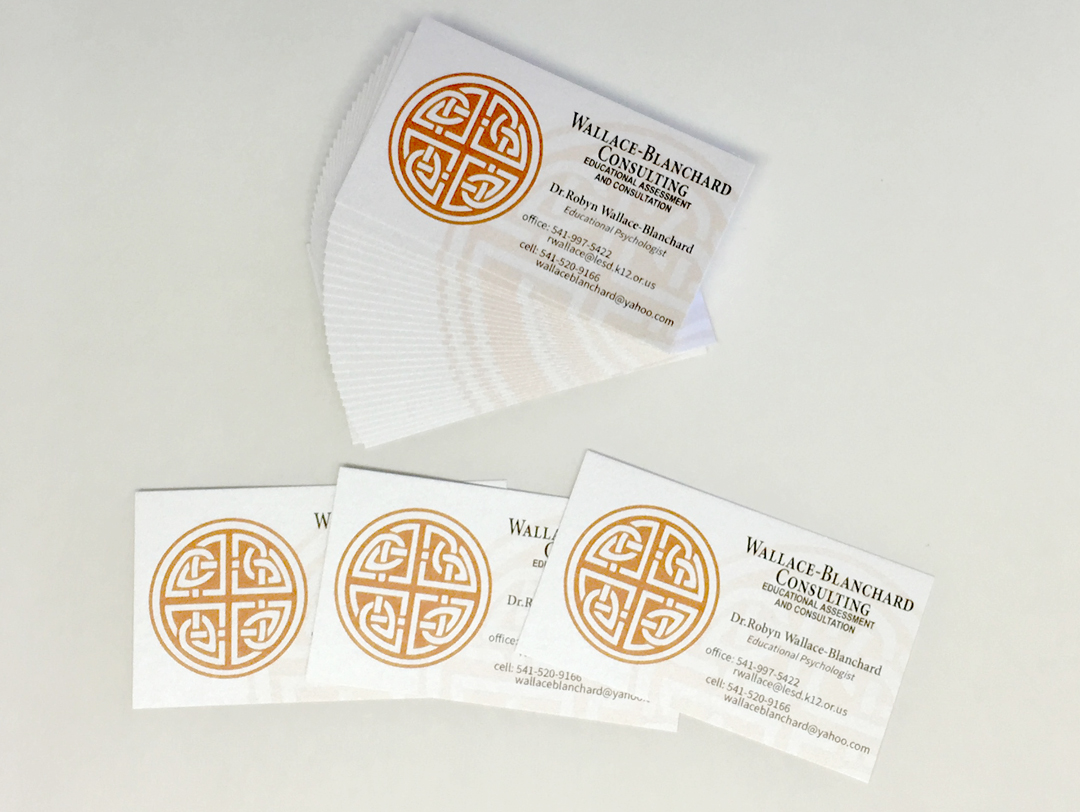 Wallace-Blanchard Consulting – Pearl Metallic Business Cards
