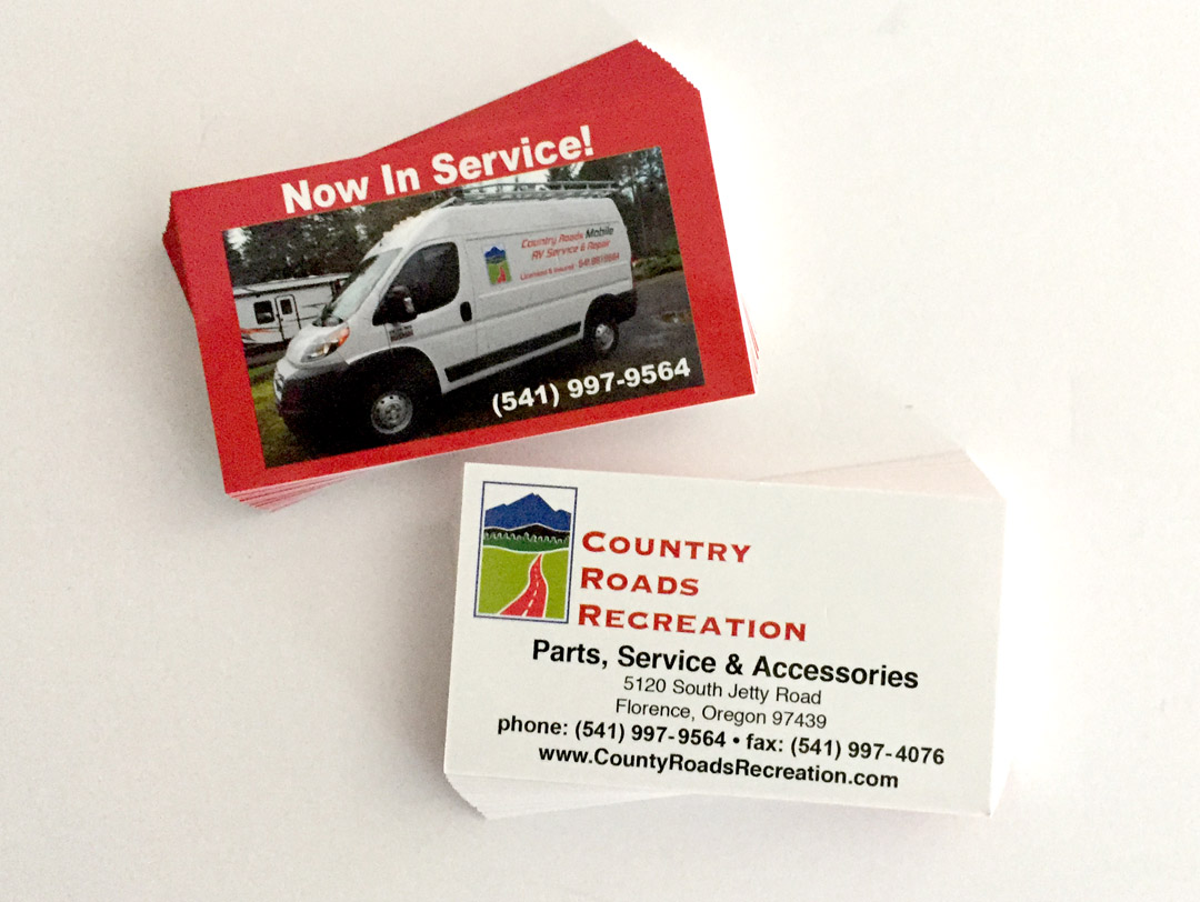 Country Roads Recreation , Part Dept.  – Business Cards