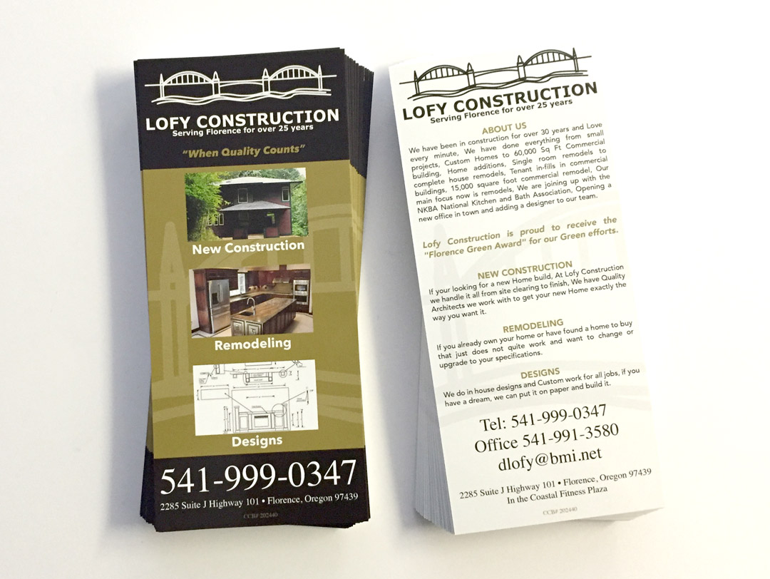 Lofy Construction – Rack Cards
