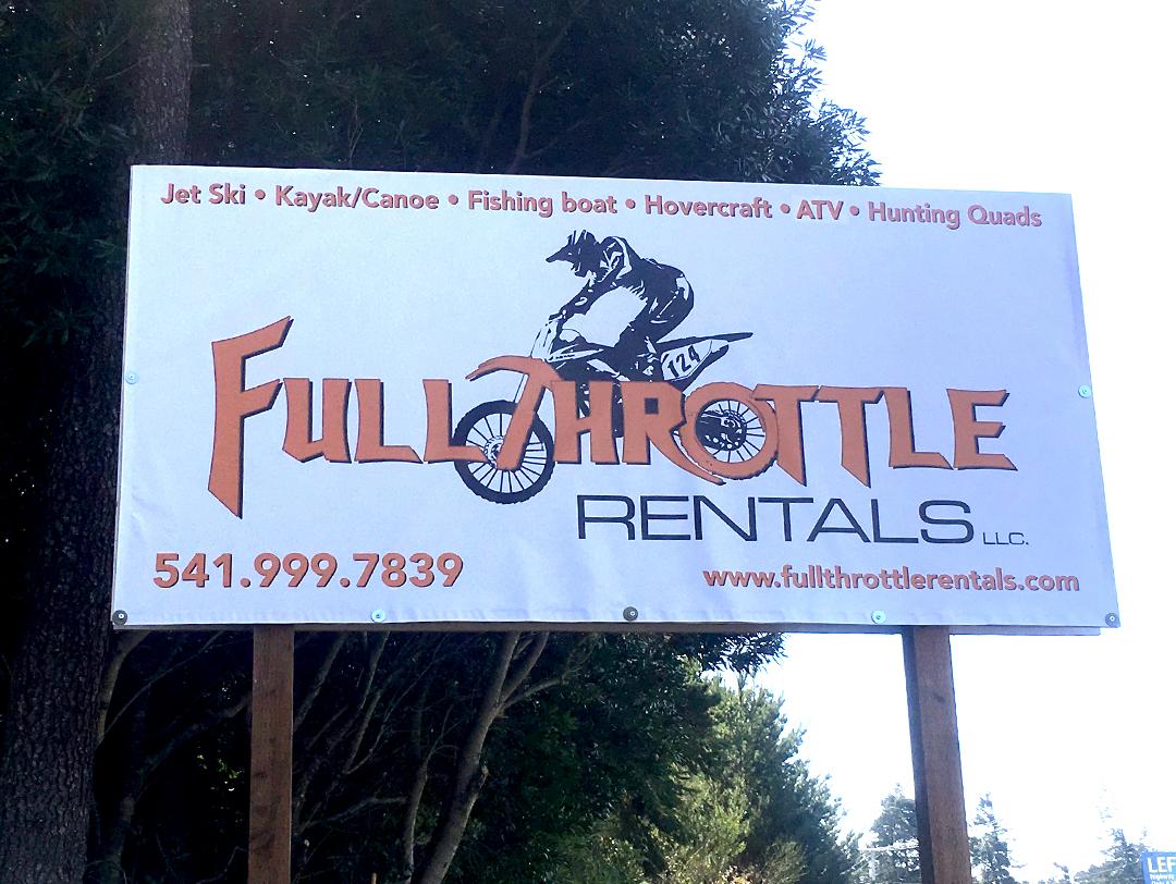 Full Throttle Rentals – Outdoor Banner