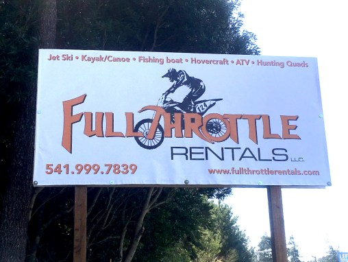 Full Throttle Rentals – Outdoor Banner