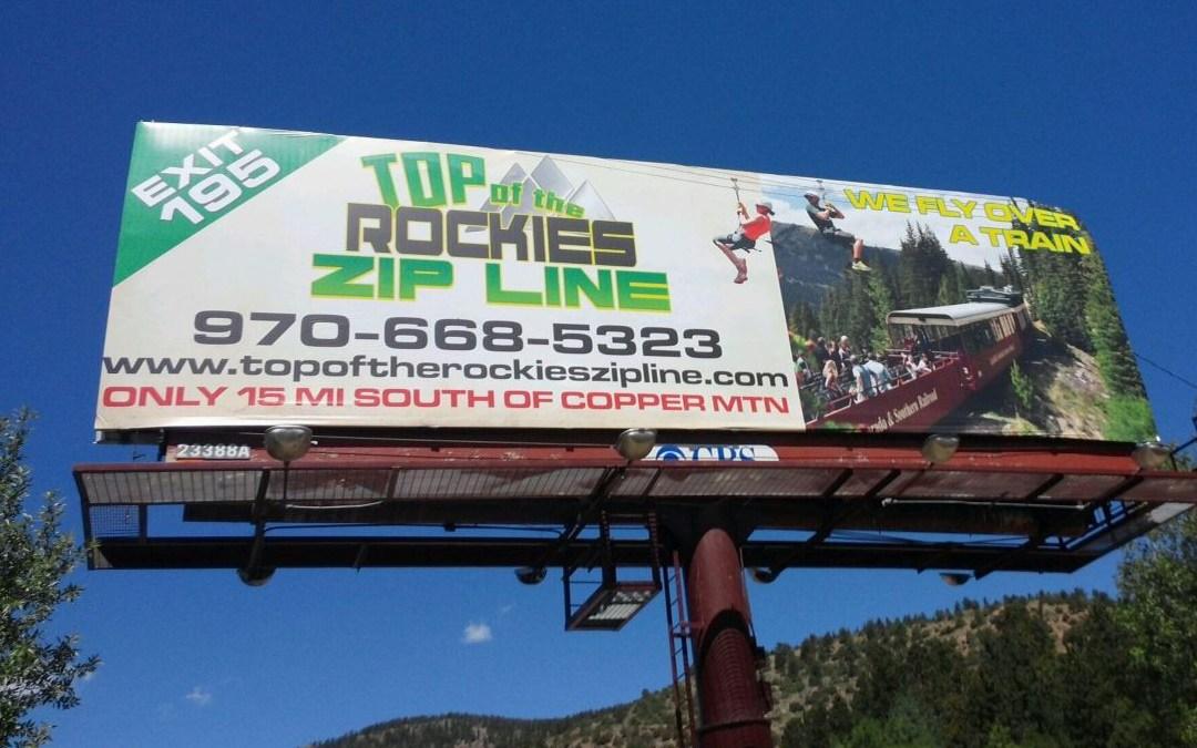 Top of the Rockies Zip Line – Billboard