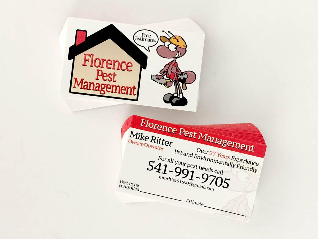 Florence Pest Management – Business Cards