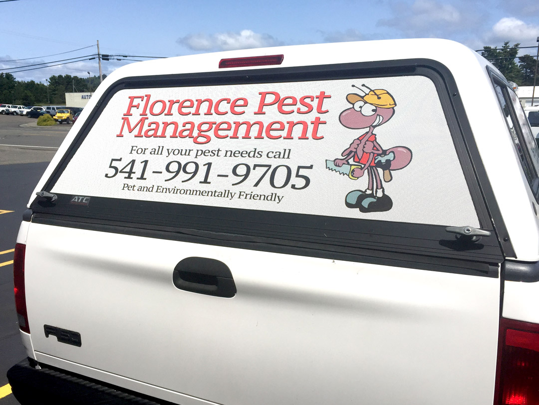 Florence Pest Management – See-Through Window Vinyl