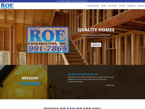 Michael Roe Construction – Website