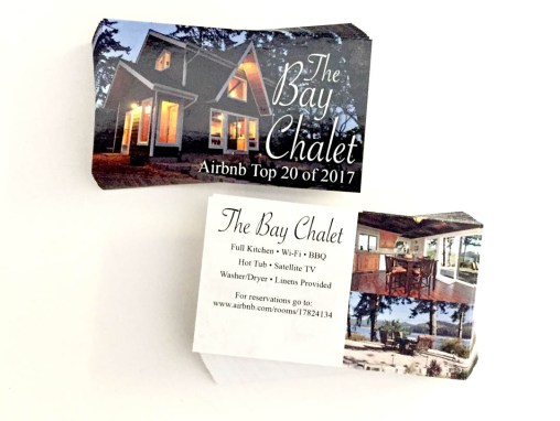 The Bay Chalet – Business Card