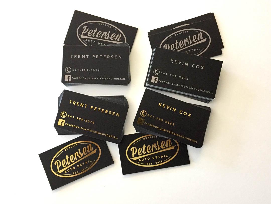 Petersen Auto Detail – Business Cards