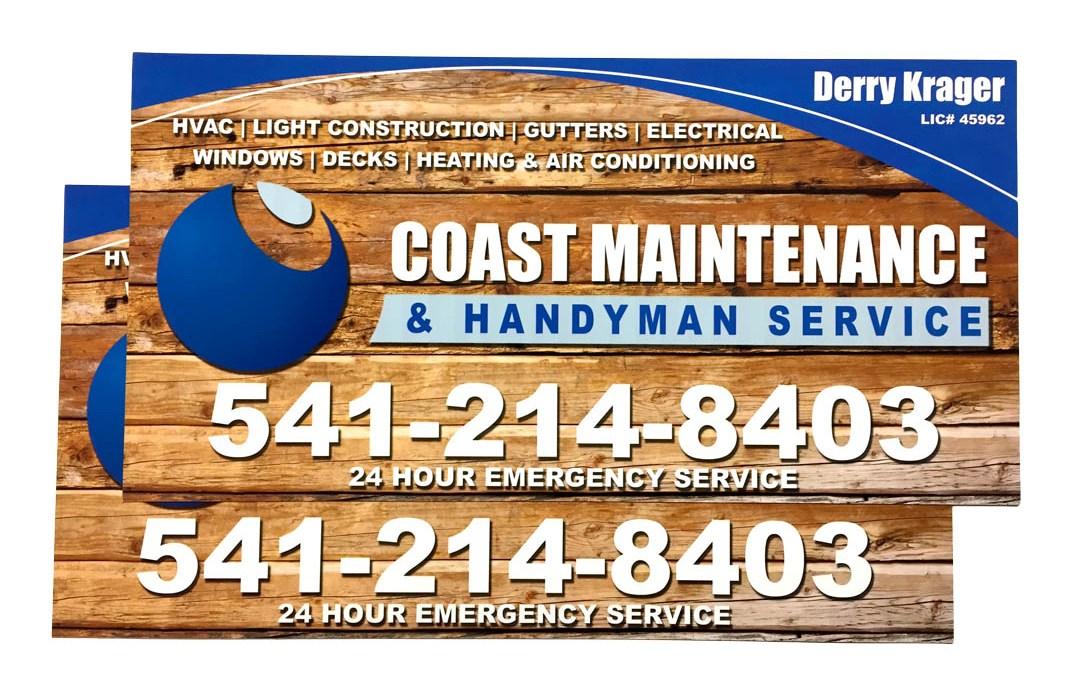 Coast Maintenance & Handyman Service – Car Magnets