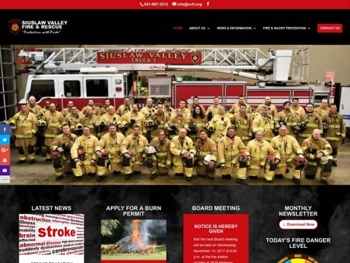 SVFR – Website Redesign