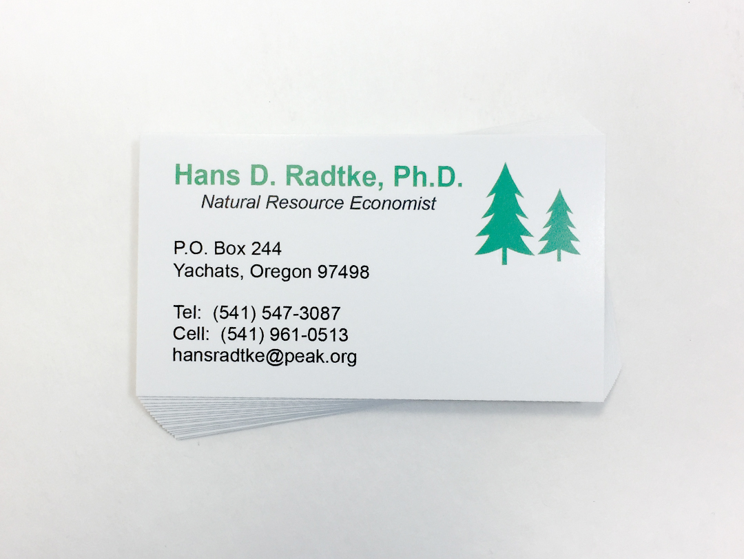 Hans Radtke – Business Card