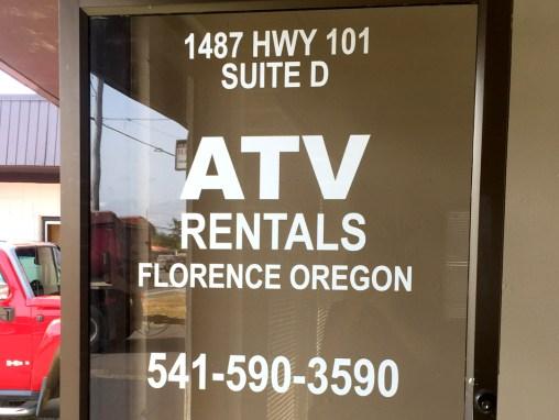 ATV Rentals – Vinyl Lettering
