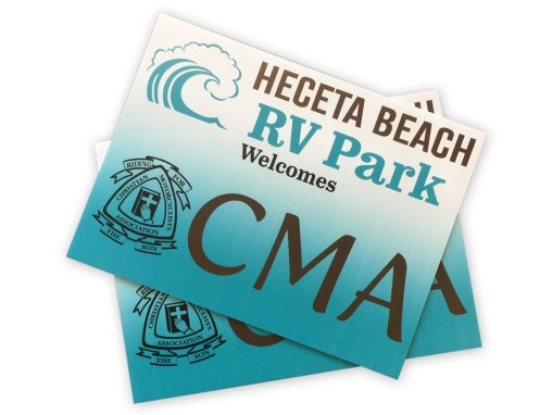 Heceta Beach RV – Coroplast Sign