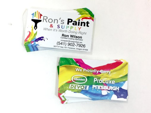 Ron's Paint – Business Cards