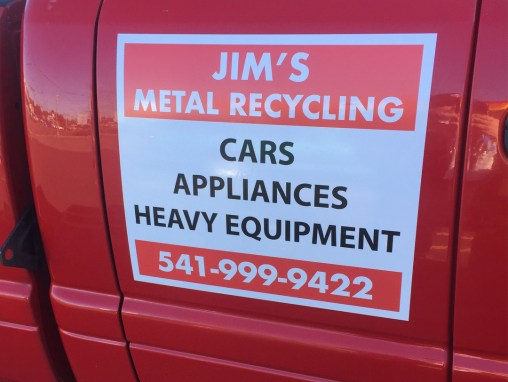Jims Metal Recycling – Vinyl Sticker
