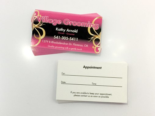 Village Grooming – Business Cards