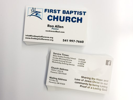 First Baptist Church – Business Cards