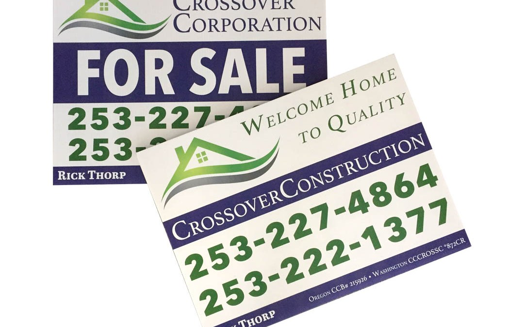 Crossover Corporation – Coroplast Signs